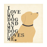 My Dog Loves Me Posters by Jo Moulton