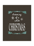 White Christmas Posters by Jo Moulton