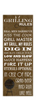 Grilling Rules Posters av Anna Quach