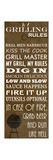 Grilling Rules Posters por Anna Quach