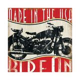 Vintage Motorcycle Posters by Jennifer Pugh