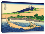 A Fishing Boat With Mt Fuji, Gallery-Wrapped Canvas Stretched Canvas Print by Katsushika Hokusai