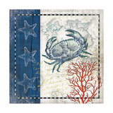 Coastal Blue Crab Art by Jennifer Pugh