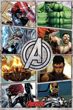 The Avengers (Comic Panels) Poster