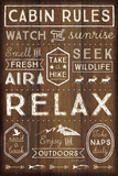 Cabin Rules Prints by Jennifer Pugh