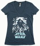Juniors: Star Wars The Force Awakens- Poster Out V-neck tee Womens V-Necks