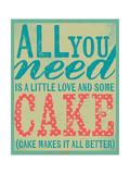All You Need Is Cake Reproduction giclée Premium par Katie Doucette
