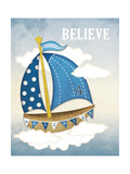 Dream Sailboat IV Premium Giclee Print by Jennifer Pugh