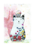 Cat with a Cupcake 2 Prints by Sarah Ogren