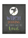 Witch Parking Premium Giclee Print by Jo Moulton