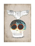 Skull and Bat Posters by Sarah Ogren