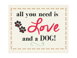 Love and a Dog Prints by Jo Moulton