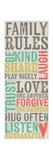 Gezinsregels, poster met opsomming in het Engels: Family Rules Poster van Katie Doucette