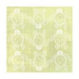 Turtle Pattern Yellow Premium Giclee Print by Shanni Welsh