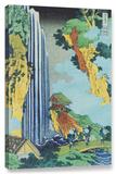 Ono Waterfall On The Kisokaido, Gallery-Wrapped Canvas Stretched Canvas Print by Katsushika Hokusai
