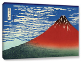 Red Fuji, Gallery-Wrapped Canvas Stretched Canvas Print by Katsushika Hokusai
