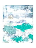 Ocean and Ship Premium Giclee Print by Sarah Ogren