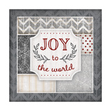 Joy to the World Pewter Print by Jennifer Pugh