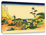 Shimomeguro, Gallery-Wrapped Canvas Stretched Canvas Print by Katsushika Hokusai