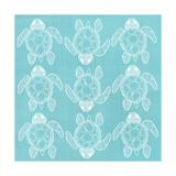 Turtle Pattern Sea Blue Poster van Shanni Welsh