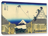 Mitsui Shop On Suruga Street In Edo, Gallery-Wrapped Canvas Stretched Canvas Print by Katsushika Hokusai