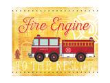 Fire Rescue Plakaty autor Jennifer Pugh