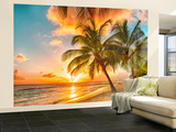 Barbados Palm Beach Wall Mural