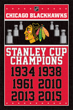 Chicago Blackhawks- Champions 2015 Prints