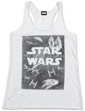 Juniors: Star Wars The Force Awakens- Sky Square Tank Top Débardeur