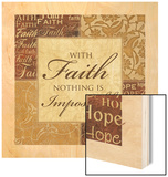 With Faith Wood Print by Piper Ballantyne
