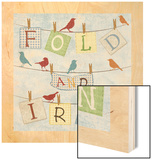 Fold and Iron Wood Print by Piper Ballantyne