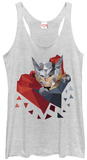 Juniors Tank Top: Thor- Low Poly Trägerhemd