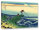 Kajikazawa In Kai Province, Gallery-Wrapped Canvas Stretched Canvas Print by Katsushika Hokusai