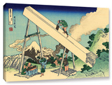 The Fuji From The Mountains Of Totomi, Gallery-Wrapped Canvas Stretched Canvas Print by Katsushika Hokusai