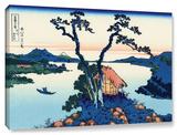 Lake Suwa In The Shinano Province, Gallery-Wrapped Canvas Stretched Canvas Print by Katsushika Hokusai