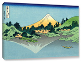 The Fuji Reflects In Lake Kawaguchi, Seen From The Misaka Pass In The Kai Province, Gallery-Wrapped Stretched Canvas Print by Katsushika Hokusai