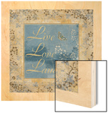 Live Love Laugh Wood Print by  Artique Studio