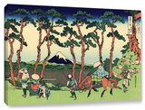 Hodogaya On The Tokaido, Gallery-Wrapped Canvas Stretched Canvas Print by Katsushika Hokusai