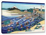 The Fuji From Kanaya On The Tokaido, Gallery-Wrapped Canvas Stretched Canvas Print by Katsushika Hokusai