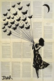 Jover- Butterflying Print by Loui Jover