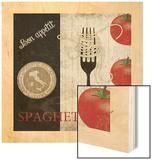 Big Night Out - Spaghetti Wood Print by Piper Ballantyne