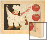 Bon Appetit Chef Wood Print by Piper Ballantyne