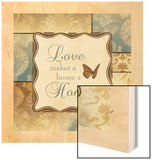 Love Home Wood Print by Piper Ballantyne