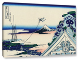 Asakusa Honganji Temple In Th Eastern Capital, Gallery-Wrapped Canvas Stretched Canvas Print by Katsushika Hokusai
