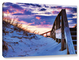 Sunset At Ocracoke, Gallery-Wrapped Canvas Stretched Canvas Print by Steve Ainsworth