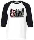 Long Sleeve: Stray Cats- Three Cats Raglan - T-shirt