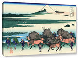 Ono Shindon In The Suraga Province, Gallery-Wrapped Canvas Stretched Canvas Print by Katsushika Hokusai