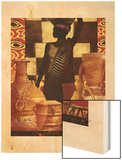 African Traditions II Wood Print by Eric Yang