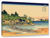 Enoshima In The Sagami Province, Gallery-Wrapped Canvas Stretched Canvas Print by Katsushika Hokusai
