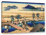 Nakahara In Sagami Province , Gallery-Wrapped Canvas Stretched Canvas Print by Katsushika Hokusai